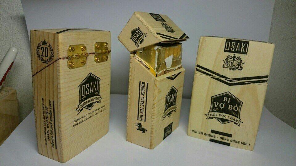hộp gỗ đựng thuốc lào bỏ túi