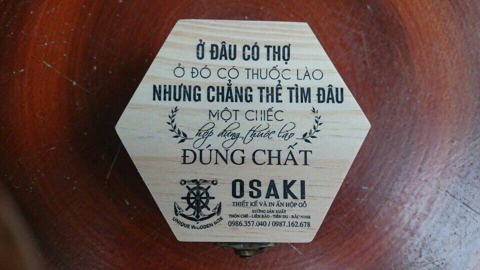 hộp gỗ đựng thuốc lào để bàn
