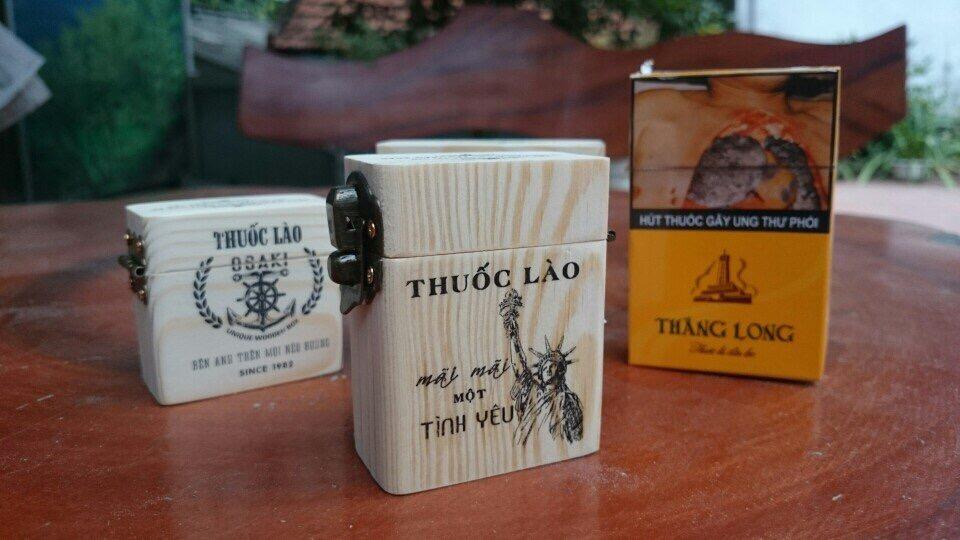 hộp gỗ đựng thuốc lào bỏ túi thông minh tiện lợi